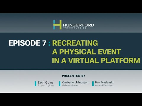 Webex Wednesdays @1 - Episode 7: Recreating a Physical Event in a Virtual Platform