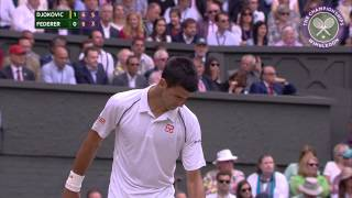 Novak Djokovic and Roger Federer do battle in the Wimbledon final... SUBSCRIBE to The Wimbledon YouTube Channel:...