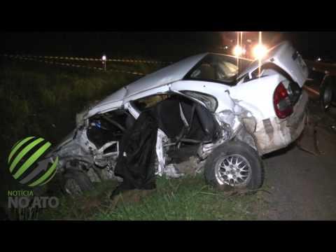 Colisão transversal mata um e deixa quatro feridos na BR-116 em Correia Pinto