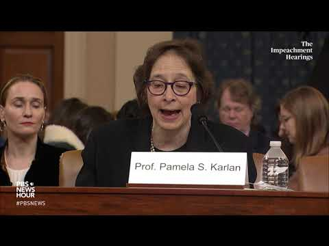 WATCH: Karlan lists Trump's impeachable offenses | Trump impeachment hearings