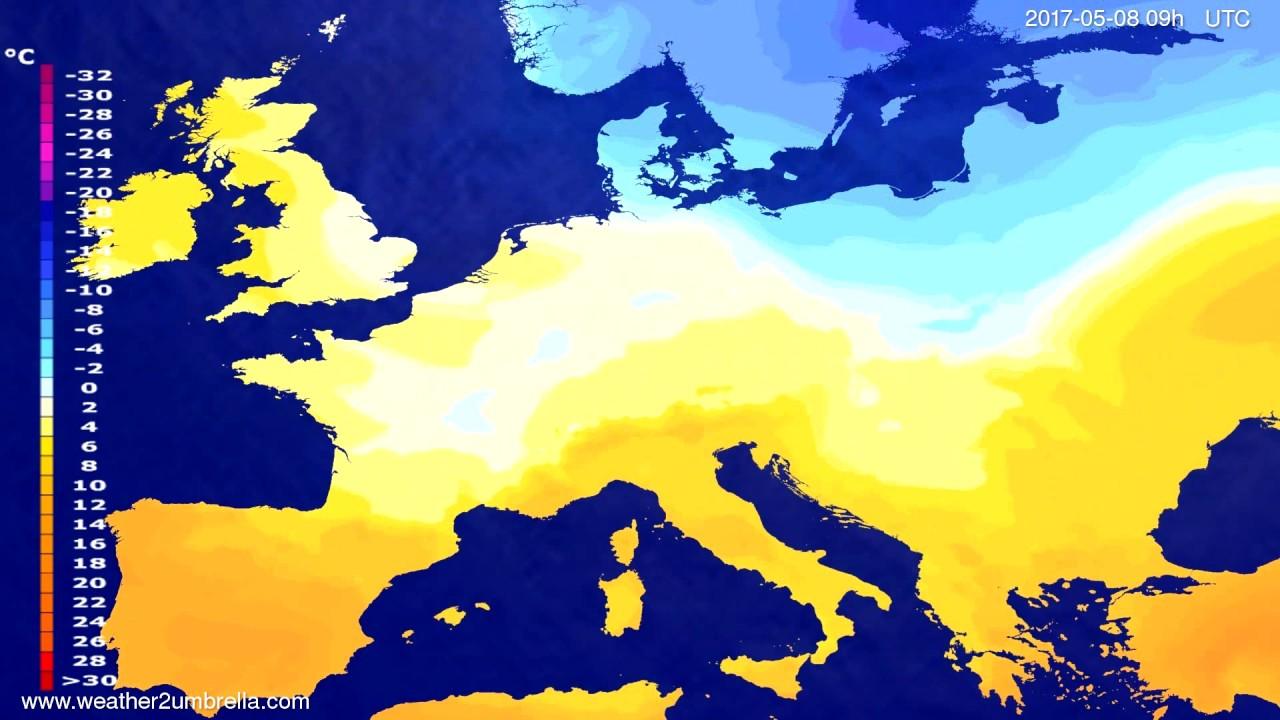 Temperature forecast Europe 2017-05-04