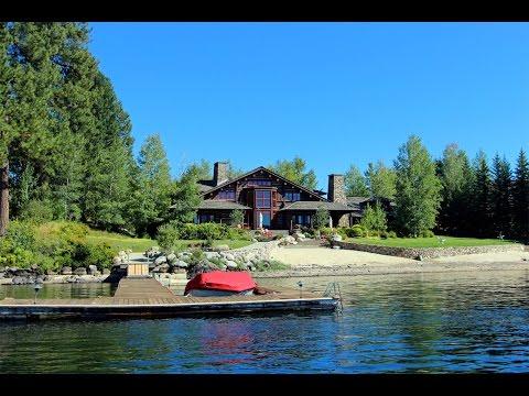 Sandy Lakefront Log Home in McCall, Idaho
