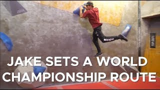 Can Jake set a WORLD CHAMPIONSHIP route? by Bouldering Bobat
