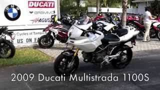 8. Pre-Owned 2009 Ducati Multistrada 1100S in White Walkaround Video at Euro Cycles of Tampa Bay