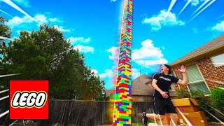 Video DON'T LET THE 100FT LEGO TOWER FALL ON YOU! MP3, 3GP, MP4, WEBM, AVI, FLV Juli 2019
