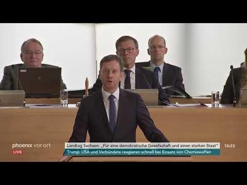 Regierungserklärung von Michael Kretschmer zu den Aussc ...