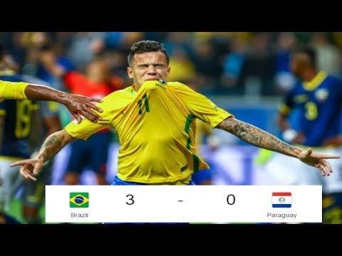 Brazil vs Paraguay   3   0   All Goals  & Extended Highlights   World Cup Qualifying   28 ⁄03 ⁄2017