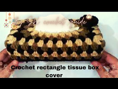 How to make a  rectangle crochet tissue box cover. Very easy!