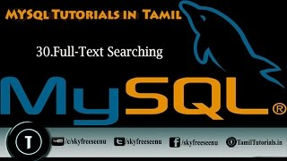 MYSQL Tutorials In Tamil 30 Full Text Searching