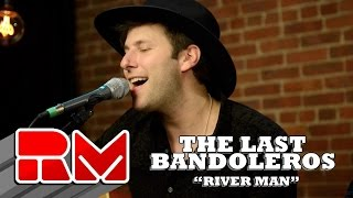 """See more of The Last Bandoleros at: http://www.realmagictv.com/music/666/The-Last-BandolerosThe Last Bandoleros """"River Man"""" - Live Acoustic Performance in on Real Magic TV. The band stopped by our Northeast studio while on tour. They played 4 songs in this exclusive session. The Last Bandoleros are:Jerry Fuentes - Vocals & Guitar Derek James - Vocals & GuitarDiego Navaira- Vocals & BassEmilio Navaira - Vocals & PercussionThe Last Bandoleros are on a roll. The group has sold-out New York City's Rockwood Music Hall as headliner and opened for Canadian chanteuse Feist at Webster Hall (NYC). They've performed live with Sting and also feature as backing vocalists on his new single """"I Can't Stop Thinking About You"""" currently climbing the AAA radio and iTunes rock charts. At the time of the video publishing the band was on tour with Sting. Members of the group perform with Sting nightly and have appeared on Sting's latest release """"57th and 9th""""."""