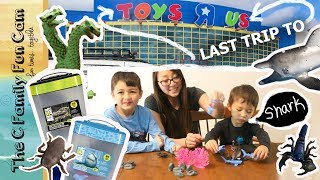 TOYS R US last trip STORE CLOSING : ANIMAL PLANET Monster & Ocean TOYS  The C Family Fun Cam