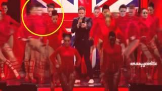 Danielle Peazer dancing on BRIT awards 2012, performance 'heart skips a beat'