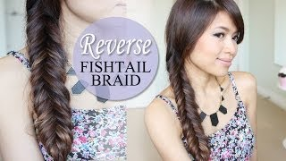 How to: Reverse Fishtail Braid Hair Tutorial | NEW QUICK WAY - YouTube
