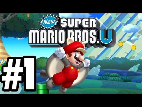 Let's Play New Super Mario Brothers U – World 1-1 – All Star Coins
