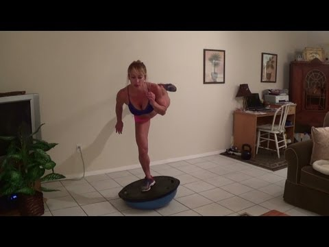 Home Workout for Hips, legs, and Booty!! Bosu Balance.