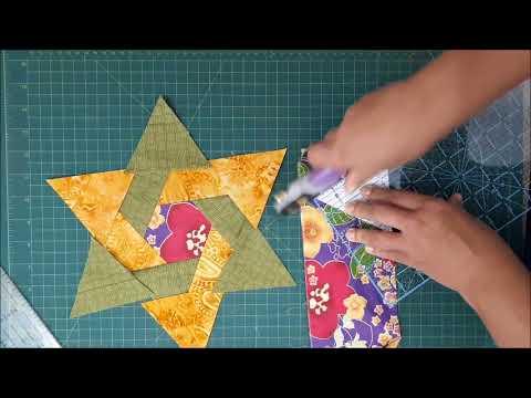 patchwork - come si esegue la stella di david
