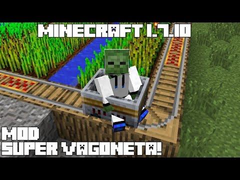 Minecraft 1.7.10 MOD SUPER VAGONETA! Cutting Edge Mod Español! (видео)