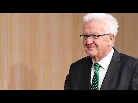 Kretschmann (Grüne) tritt für dritte Amtszeit in Baden-Württemberg an
