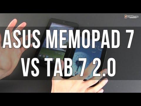 Asus Memo Pad vs Samsung Galaxy TAB 7 2.0 – cheap Android tablets compared