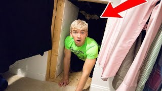 EXPLORING MY BROTHERS SECRET ROOM!! (HAUNTED)