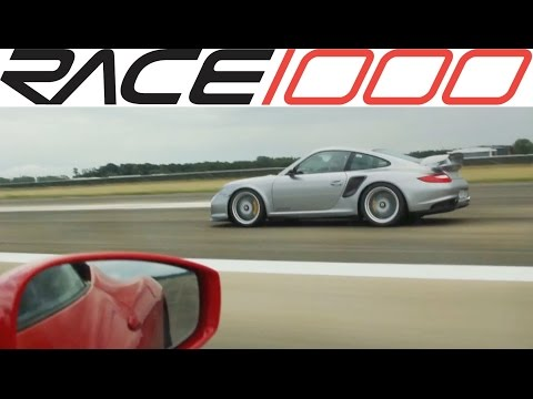 porsche 911 gt2 rs vs ferrari 458 speciale - roll race
