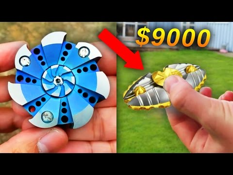 TOP 10 MOST EXPENSIVE FIDGET SPINNERS (видео)