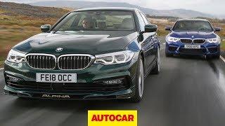 2018 BMW M5 vs Alpina B5 - 5 Series super-saloon showdown | Autocar by Autocar