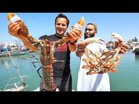 WOWWW!! Mega Seafood and BBQ CAMEL in Morocco! INSANE Street Food and Seafood Market Tour!