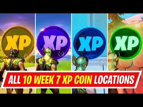 Fortnite - All XP Coins Locations Week 7 - Chapter 2 Season 4
