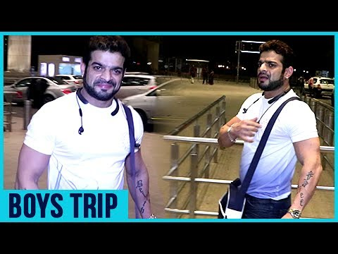 Karan Patel aka Raman Bhalla Leaves For A BOYS TRI