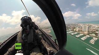 Espectaculares ACROBACIAS aéreas de un caza F-35 grabadas desde la cabina