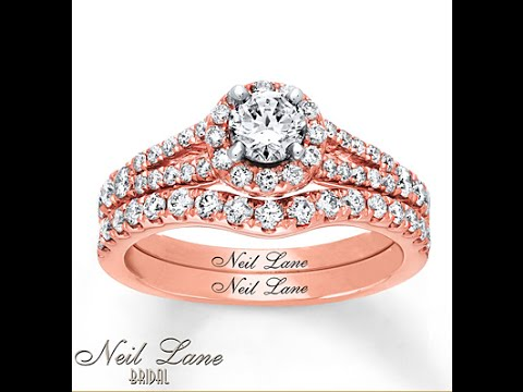 Neil Lane Bridal Set 14K Rose Gold Best Price