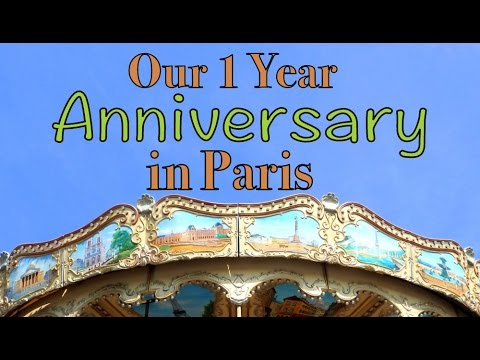 Celebrating our one year anniversary in Paris, France