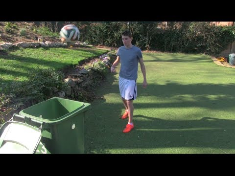 Football Bin Shots & Skills | Footballskills98