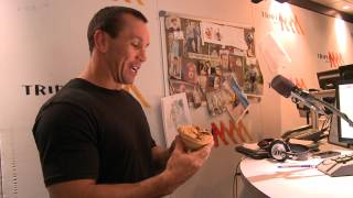 Matty Johns attempts to eat The Flaming Ron