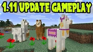 NEW 1.11 UPDATE!! Minecraft 1.11 UPDATE GAMEPLAY! // Llamas, Treasure Maps, NEW MOBS! (1.11 UPDATE)