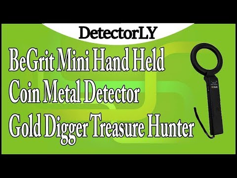 BeGrit Mini Hand Held Coin Metal Detector Gold Digger Treasure Hunter Review