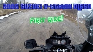4. 2005 Suzuki V-strom DL650 first ride!