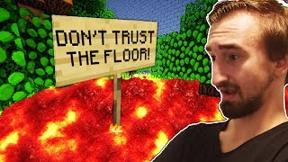 YOU CANT TOUCH THE FLOOR - THE FLOOR IS LAVA IN MINECRAFT