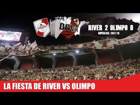 LA FIESTA DE RIVER VS OLIMPO / Superliga 2018 - Los Borrachos del Tablón - River Plate - Argentina - América del Sur