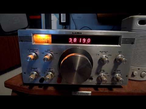 Home brew ham receiver demo..it's the KJURKN