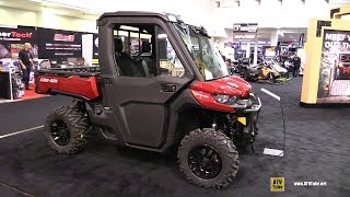 8. 2018 Can Am Defender XT HD10 Utility ATV - Walkaround - 2017 Toronto ATV Show
