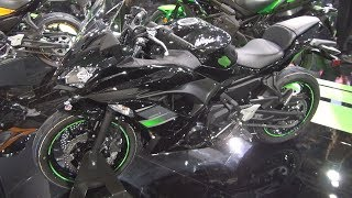 1. Kawasaki Ninja 650 Black Metallic Spark (2019) Exterior and Interior