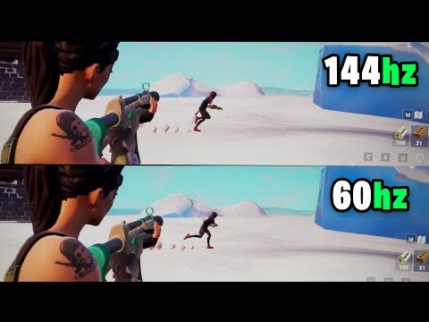 watch this video before buying a 144hz monitor slow motion comparison 144hz vs 60hz fortnite - fortnite 144hz vs 240hz