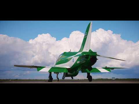 Saudi Hawks in Gdynia Air show highlight ملخص مشاركة فريق الصقور السعودية في غدينيا