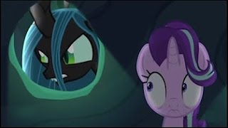 """'An unlikely band of rescuers... against the greatest threat ever known.'To Where And Back Again – Part 1: 'A evil villain returns as ponies begin to disappear in Equestria and only Starlight Glimmer can stop them with a band of unlikely heroes.'To Where And Back Again – Part 2: 'Without magic and with nopony else to help – Starlight Glimmer leads a band of unlikely heroes into the depths of the villain's lair on a dangerous adventure unlike any other.'#MLPSeason6 #Mylittleponyfriendshipismagic #Season6  #FinaleSaturday October 22nd 11am ET==== Video Transcript Princess Luna: """"Starlight Glimmer…""""Starlight Glimmer: """"Huh?""""Twilight Sparkle: """"I'm proud to call you my student and my friend.""""Starlight: """"Maybe I haven't changed as much as I think.""""Rainbow Dash: """"Trust me; you are a totally different pony…""""Starlight: """"It's… the ponies from my old village.""""Twilight Sparkle: """"Are they in danger? I understand how hard this is for you…""""Starlight: """"What happened? Is anypony there?""""???: """"Mhwhahahaha!""""Starlight: """"They're back!""""Starlight: """"Trixie.  This is Thorax, he's a reformed changeling.""""Thorax: """"They took Cadance, Shining Armor AND Flurry Heart.""""Discord: """"Well isn't this quite the combination of secondary characters.""""Thorax: """"From an ancient dark stone that soaks up outside magic.""""Princess Luna: """"Starlight Glimmer, there's no time!""""Starlight: """"They've ponynapped all of the most powerful ponies in Equestria."""" Starlight: """"I won't know what to do!""""Princess Luna: """"Be careful who you trust!""""Starlight: """"Princess Luna!!""""Thorax: """"I hoped I'd never have to see that place again.""""Discord: """"For Fluttershy!""""Starlight: """"Please, stop… STOP!""""==== Music Audiomachine – The Lion's HeartAudiomachine – Avow====Sorry for the bad quality footage, 'To Where and Back Again' already aired on UKTV on Tiny Pop, which explains why the footage is low quality and has watermarks on it. If you've already seen the episode bully for you, if not, then shhhh! This video includes footage of the Tiny Pop premiere o"""