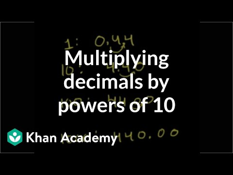 multiplying a decimal by a power of  video  khan academy