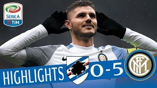 Video Sampdoria - Inter 0-5 - Highlights - Giornata 29 - Serie A TIM 2017/18 MP3, 3GP, MP4, WEBM, AVI, FLV Februari 2019