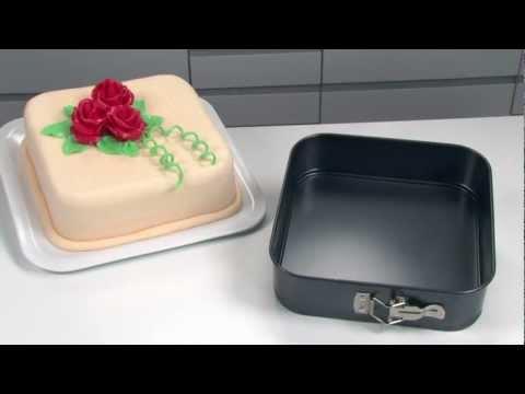 Видео Формы с антипригарным покрытием Tescoma Форма для торта раскладная квадратная DELÍCIA 24x24 см Tescoma 623296