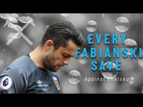 EVERY FABIANSKI SAVE VS CHELSEA